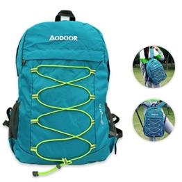 Aodoor 25L Wasserdichter Ultraleicht Faltbarer Rucksack, Faltbarer Leichter Rucksack Tagesrucksack portabler Reiserucksack für Outdoor Wandern Camping Reisen Trekkingrucksack (25L Grün) -