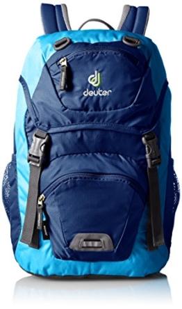 Deuter Unisex - Kinder Wanderrucksack Junior, steel/turquoise, 43 x 24 x 19 cm, 18 liters, 3602933520 -