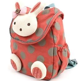 Kinder-Rucksack 3D Tier Kaninchen, Anti-Verlust, Tasche für Baby/Kleinkind/Kind Rot rot -