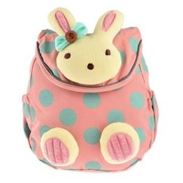 Kindergarten -Rucksack, YIFAN Baby-Kindergarten Kindergarten -Baumwolltuch -Schule-Beutel-Karikatur-Tier Kaninchen Muster Rucksack [Rosa] -