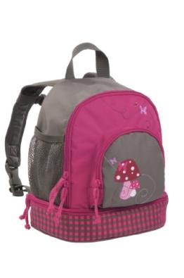 Lässig Mini Backpack Kinderrucksack Kindergartentasche, Brotdosenfach unten, Mushroom magenta Pink -