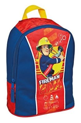 Undercover Kindergartenrucksack Feuerwehrmann Sam, ca. 27 x 22 x 14 cm Kinder-Rucksack, 6 Liter, Rot - 1