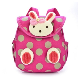 URAQT Baby Kindergarten Baumwolltuch Schulrucksäcke, Kinder Mini Rucksack, Kindergartentasche Backpack, Karikatur Tier Muster für Outdoor / Sports / Camping / Picknick Rucksäcke -