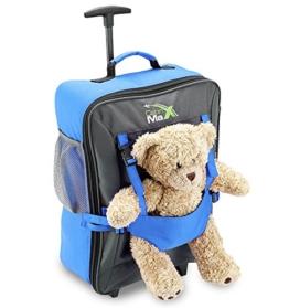 Cabin Max Handgepäckstück Kinder Koffer Trolley Blau Kindertrolley Kinderkoffer -