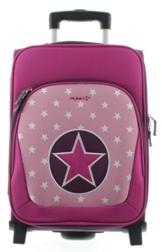 Franky Kindertrolley Kinderkoffer KT2 Sterne-Pink -