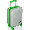 Premium Trolley Reise-Koffer Handgepäck mit Hartschale ca. 30 l (Gruen) -